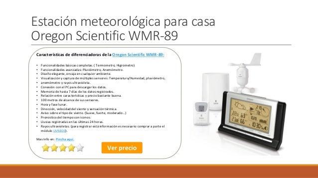 395a94e41 Estación meteorológica para casa Oregon Scientific WMR-89 ...