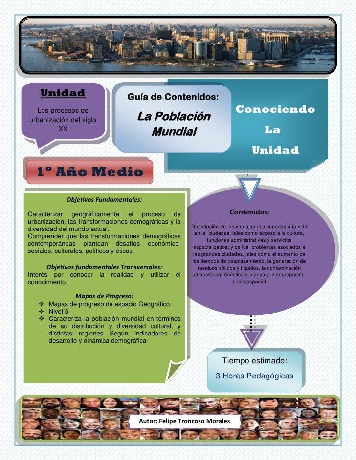 Unidad                         Guía de Contenidos:  Los procesos de                                                       ...