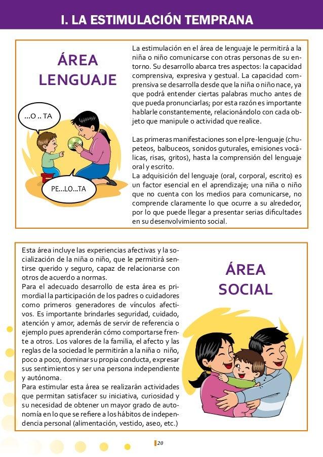 I. LA ESTIMULACIÓN TEMPRANA          Para estimular el área lenguaje:    l     Láminas con figuras de animales, frutas, ve...