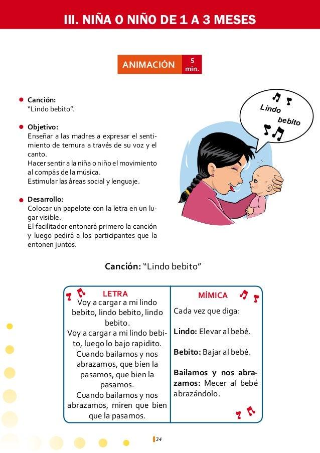 III. NIÑA O NIÑO DE 1 A 3 MESES                      ACTIVIDAD                         ÁREA DE             JUSTIFICACIÓNIL...