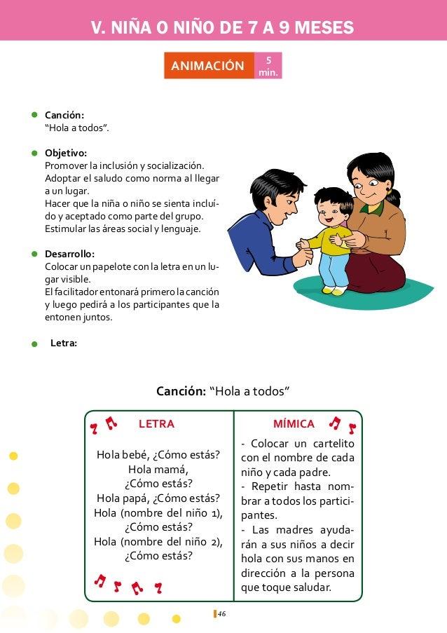 V. NIÑA O NIÑO DE 7 A 9 MESES                        ACTIVIDAD                         ÁREA DE               JUSTIFICACIÓN...