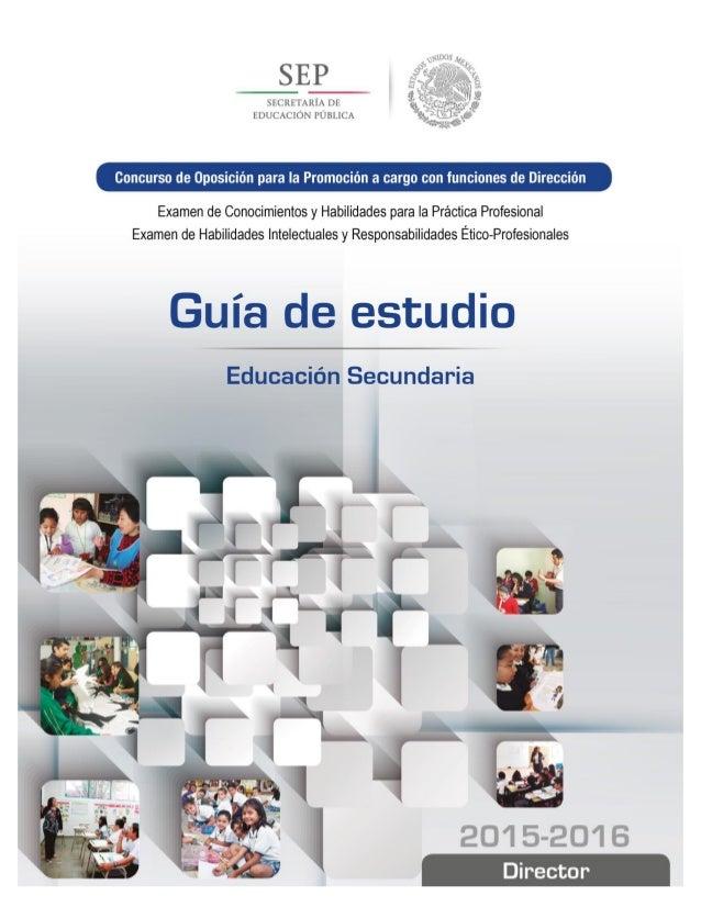 Concurso de Oposición para la Promoción a cargo con funciones de Dirección Examen de Conocimientos y Habilidades para la P...