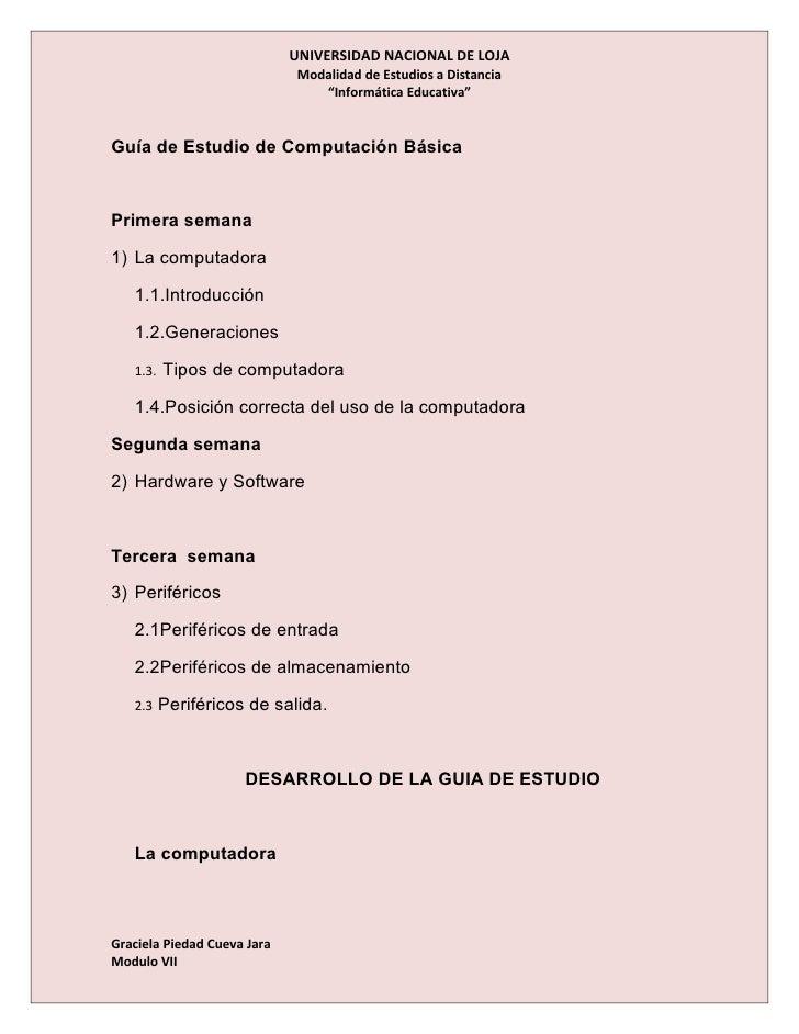UNIVERSIDAD NACIONAL DE LOJA                               Modalidad de Estudios a Distancia                              ...