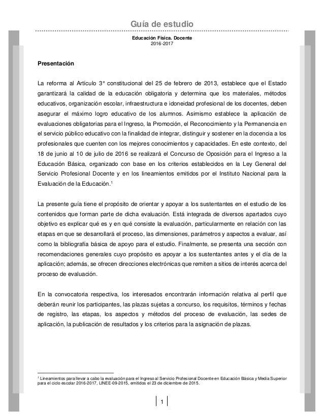 Gu a de examen de oposici n educaci n f sica for Examen para plazas docentes 2017