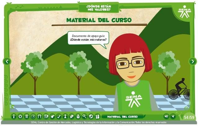 Documento de apoyo guía ¿Dónde están mis valores? material del curso ¿dónde están mis valores? /5954 SENA, Centro de Gesti...