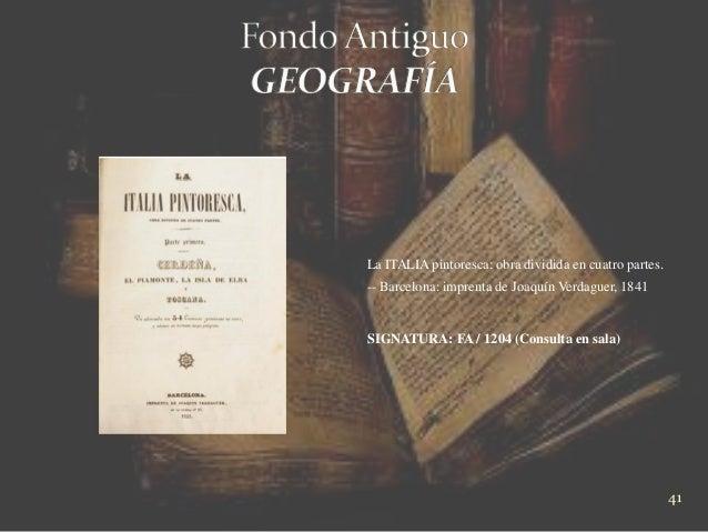Guía de exposición fondo antiguo en la biblioteca provincial da coruña