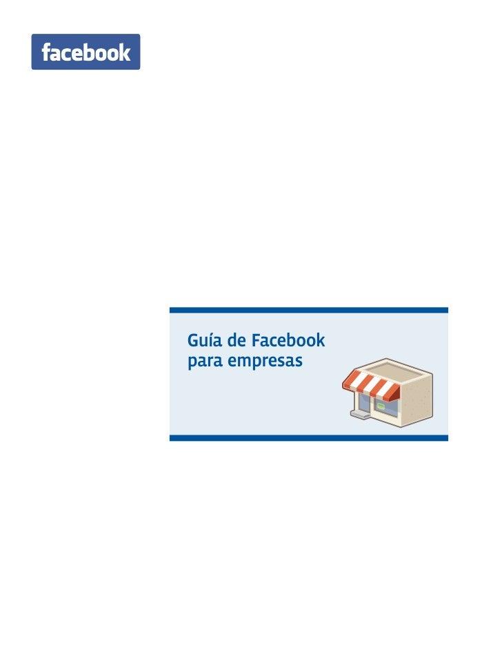 Guía de Facebookpara empresas