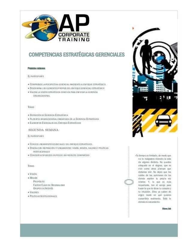 PRIMERA SEMANA EL PARTICIPANTE  COMPRENDE LA PERSPECTIVA GERENCIAL INHERENTE AL ENFOQUE ESTRATÉGICO.  DISCRIMINA LOS ELE...