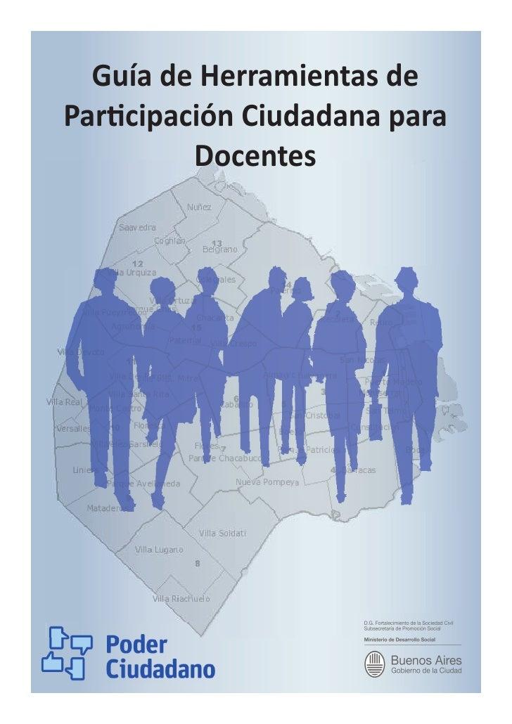 Guía de Herramientas de Par cipación Ciudadana para          Docentes