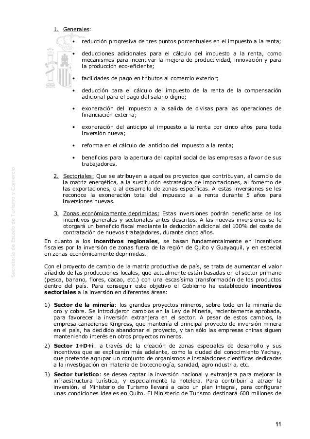 Gu a de incentivos a la implantaci n en ecuador - Calculo de impuestos al comercio exterior ...