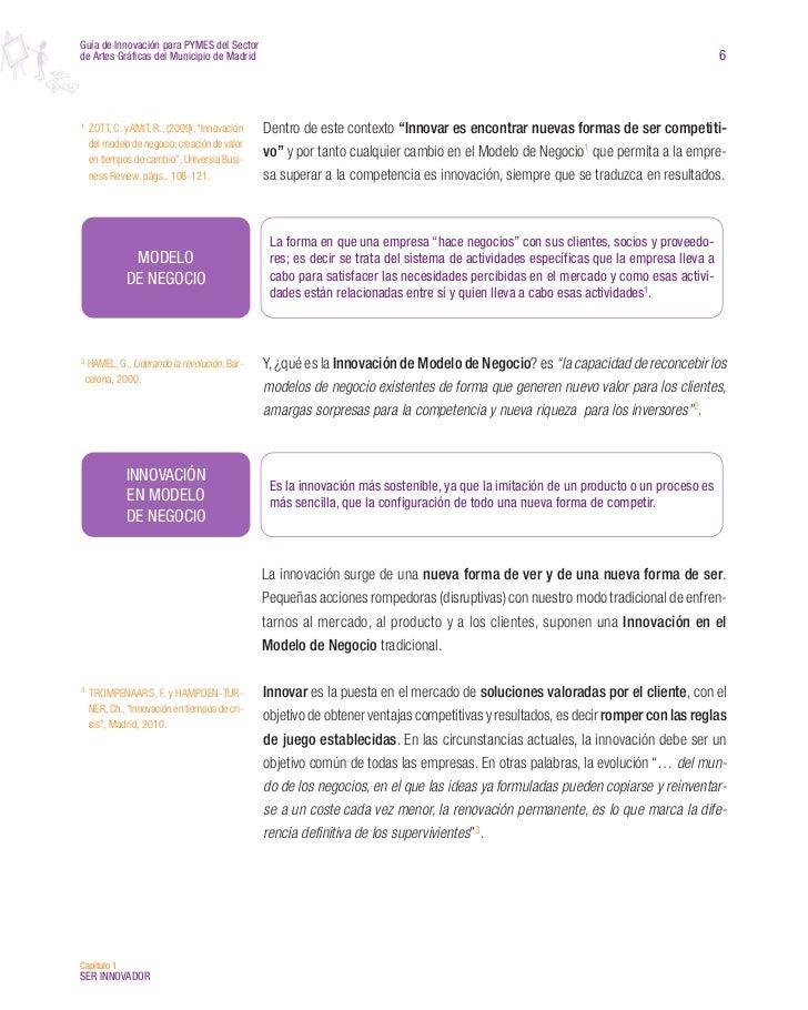 Guía de innovación para PYMES del sector de Artes Gráficas