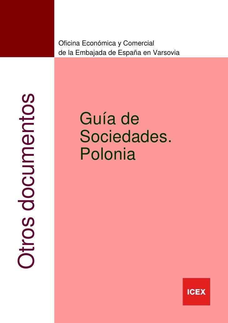 Oficina Económica y Comercial                   de la Embajada de España en VarsoviaOtros documentos                      ...