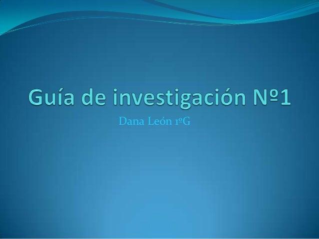 Dana León 1ºG