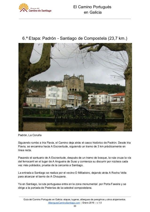 Gu a del camino portugu s en galicia - Pension jardin padron ...