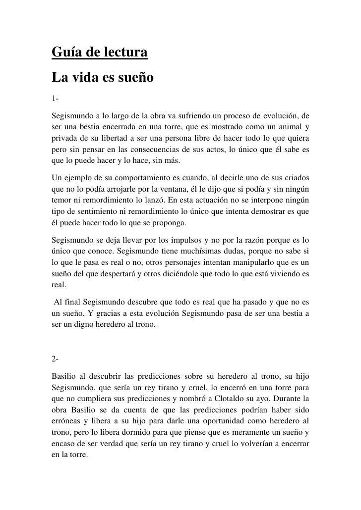 la vida es sueno english pdf
