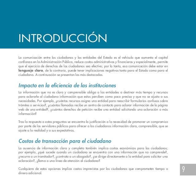 Gu a de lenguaje claro para servidores p blicos de colombia for Oficina de atencion al ciudadano linea madrid