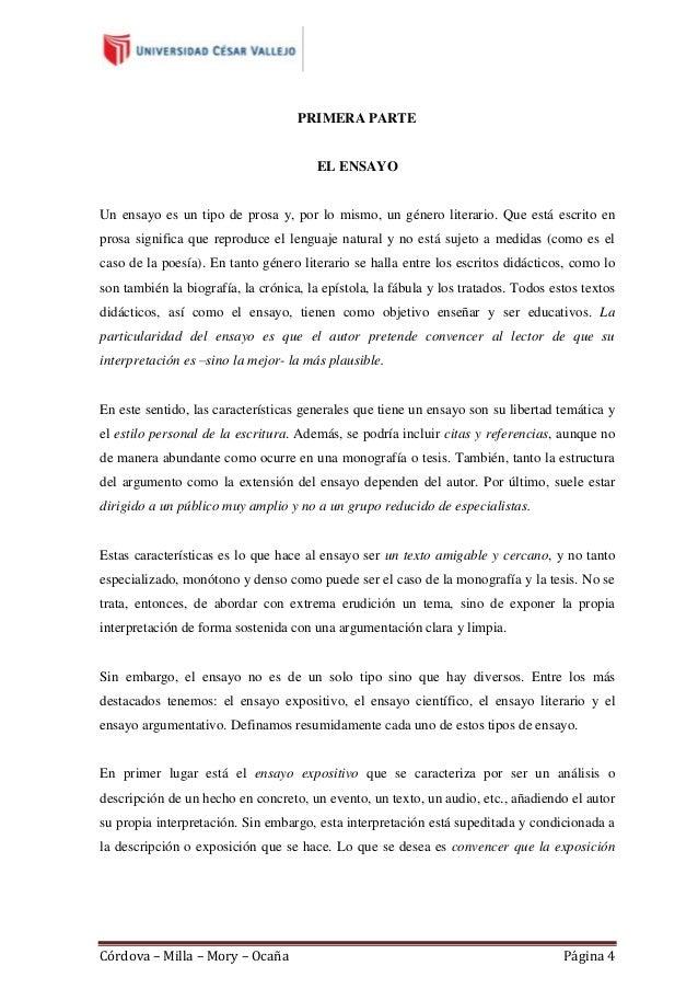 Guía del ensayo 2013