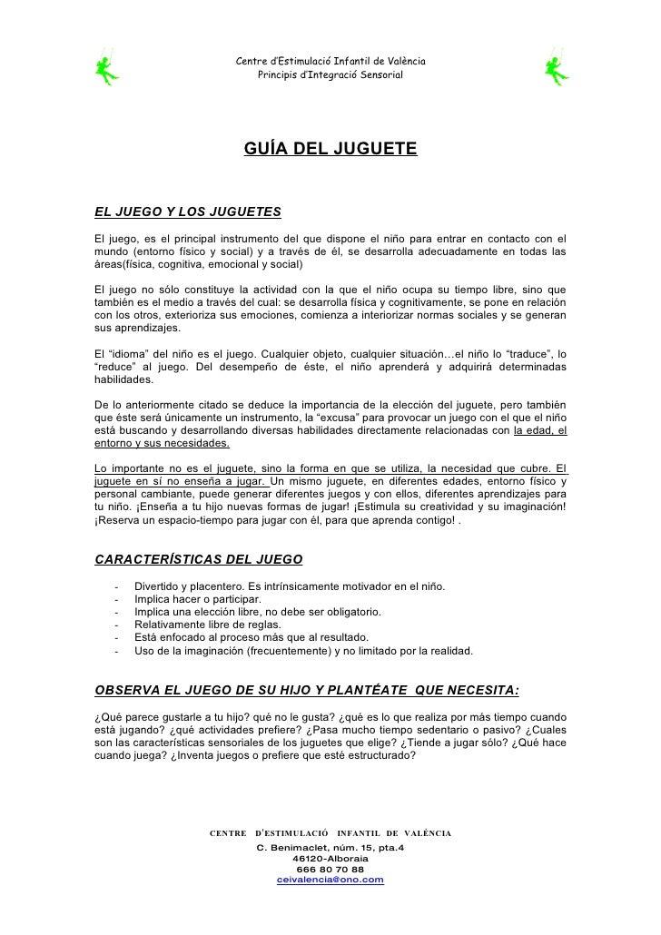 Centre d'Estimulació Infantil de València                                  Principis d'Integració Sensorial               ...