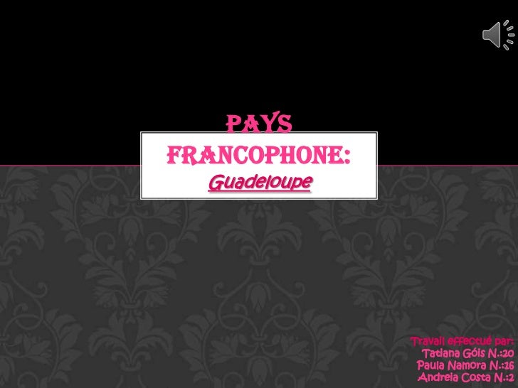 PAYSFRANCOPHONE:  Guadeloupe