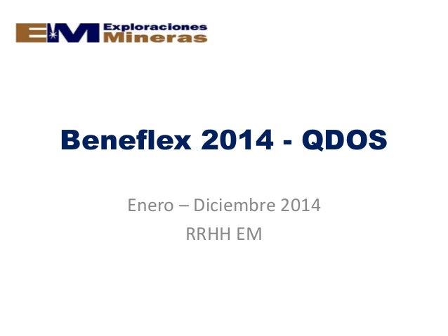 Beneflex 2014 - QDOS Enero – Diciembre 2014 RRHH EM