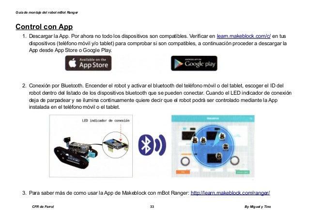 Guía de montaje del robot mbot ranger en castellano