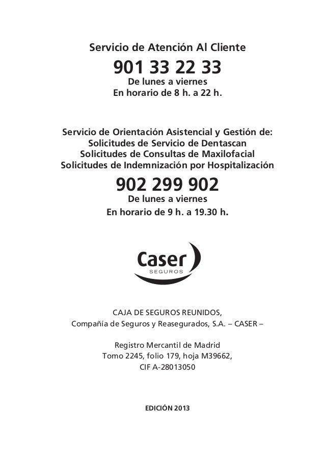 Gu a dental caser barcelona 2013 - Caser seguros malaga ...