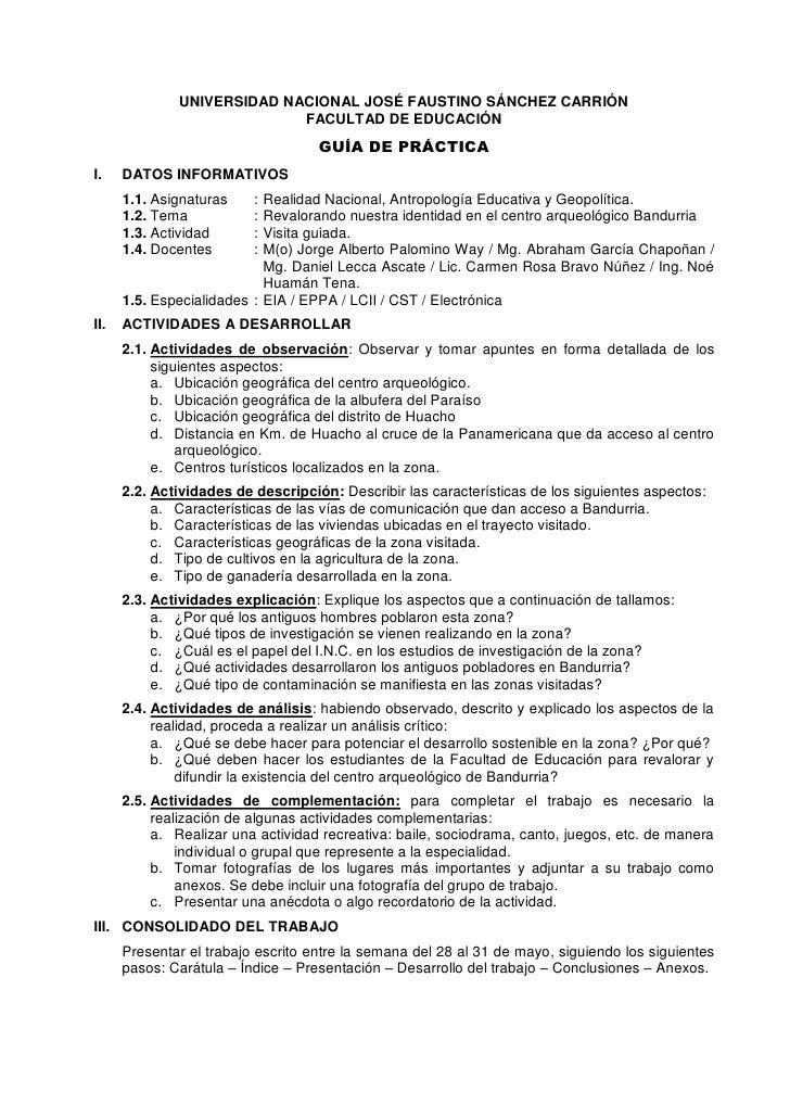 UNIVERSIDAD NACIONAL JOSÉ FAUSTINO SÁNCHEZ CARRIÓN                            FACULTAD DE EDUCACIÓN                       ...
