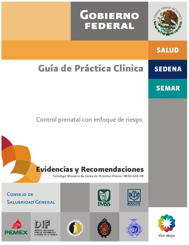 Guía de práctica clínica, control prenatal con enfoque de
