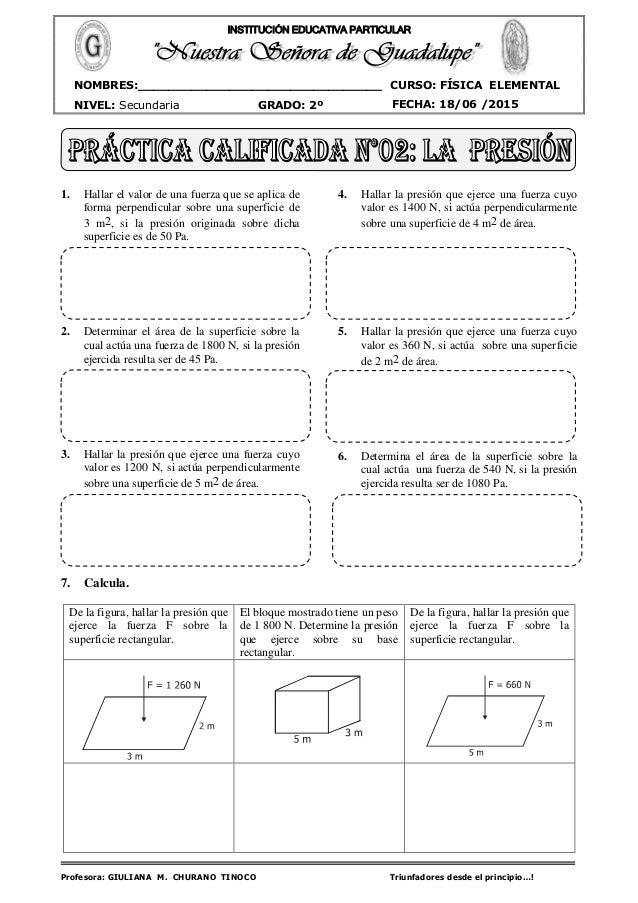 Profesora: GIULIANA M. CHURANO TINOCO Triunfadores desde el principio…! CURSO: FÍSICA ELEMENTAL NIVEL: Secundaria GRADO: 2...
