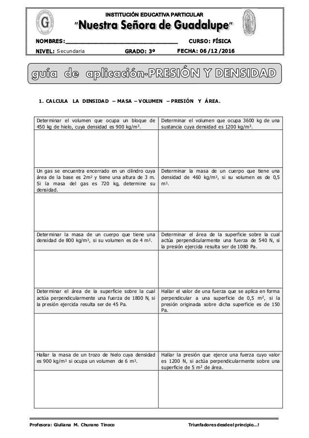 Profesora: Giuliana M. Churano Tinoco Triunfadores desdeel principio…! CURSO: FÍSICA NIVEL: Secundaria GRADO: 3º FECHA: 06...