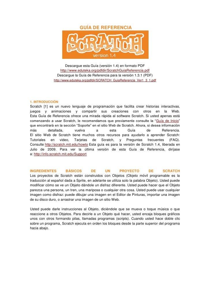 GUÍA DE REFERENCIA                     Descargue esta Guía (versión 1.4) en formato PDF                  http://www.edutek...