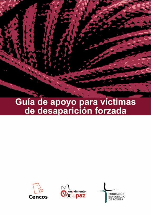 1Guía de apoyo para víctimas de desaparición forzada