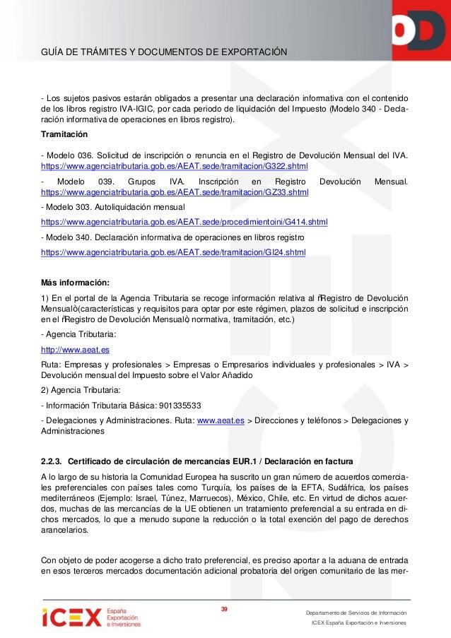 Guía de trámites y documentos para exportar