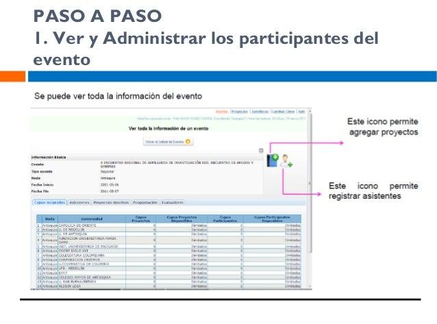 PASO A PASO 2. Darle click al evento que se encuentra activo