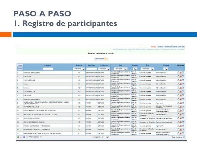 PASO A PASO 3. Registro de participantes