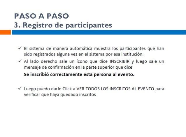 PASO A PASO 5. Registro de participantes