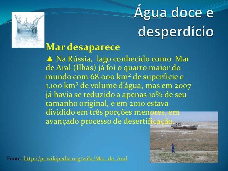 Água doce e desperdício textos 02 Slide 3