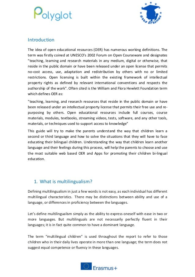 an introduction to the importance of bilingual education An introduction to bilingual development the inclusion of the word 'introduction' in the title is important international journal of bilingual education.
