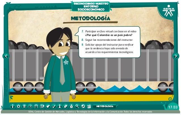 Metodología 7. Participar en foro virtual con base en el video ¿Por qué Colombia es un país pobre? 8. Seguir las recomen...