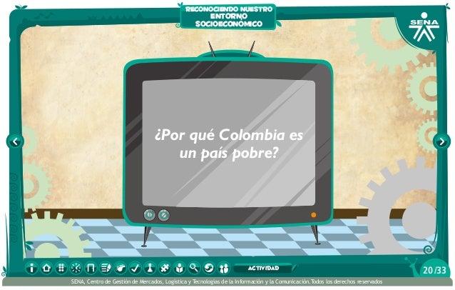 ¿Por qué Colombia es un país pobre? reconociendo nuestro entorno socioeconómico /3320actividad SENA, Centro de Gestión de ...