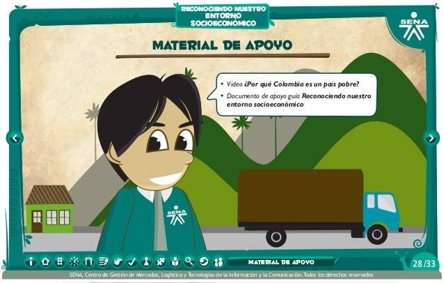 material de apoyo • Video ¿Por qué Colombia es un país pobre? • Documento de apoyo guía Reconociendo nuestro entorno soc...
