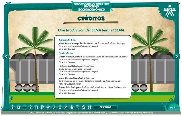 CRÉDITOS Una producción del SENA para el SENA Aprobado por: Javier Alonso Arango Pardo. Director de Formación Profesional ...