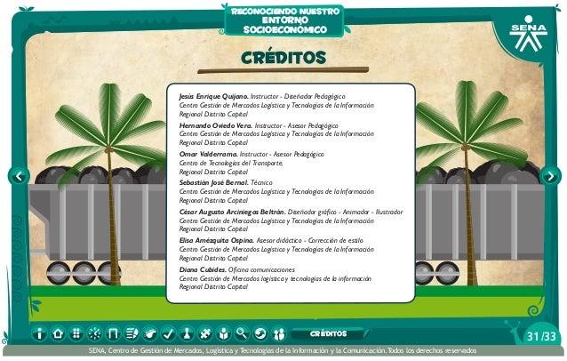 CRÉDITOS Jesús Enrique Quijano. Instructor - Diseñador Pedagógico Centro Gestión de Mercados Logística y Tecnologías de la...