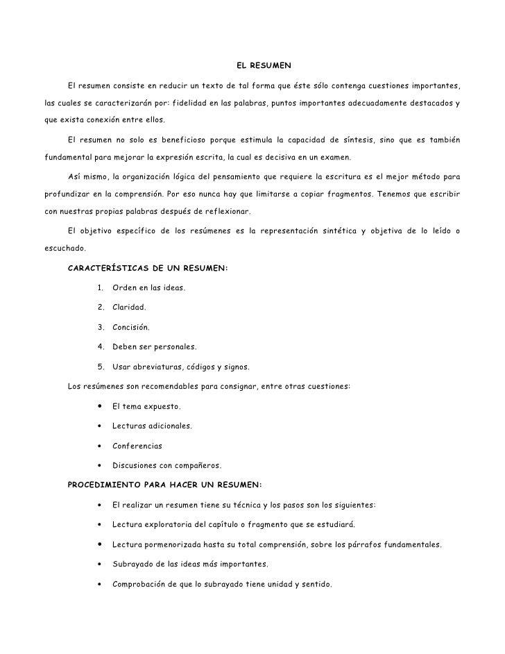 Guía esquema y resumen