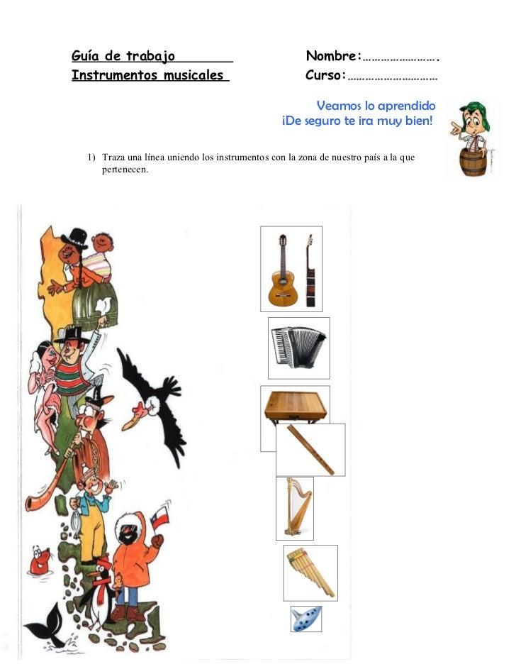 Guía de trabajo                                        Nombre:……………………. Instrumentos musicales                            ...