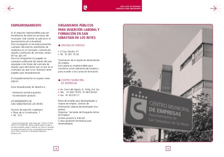 Guía Local De Recursos Laborales Para Inmigrantes San Sebastián De Lo