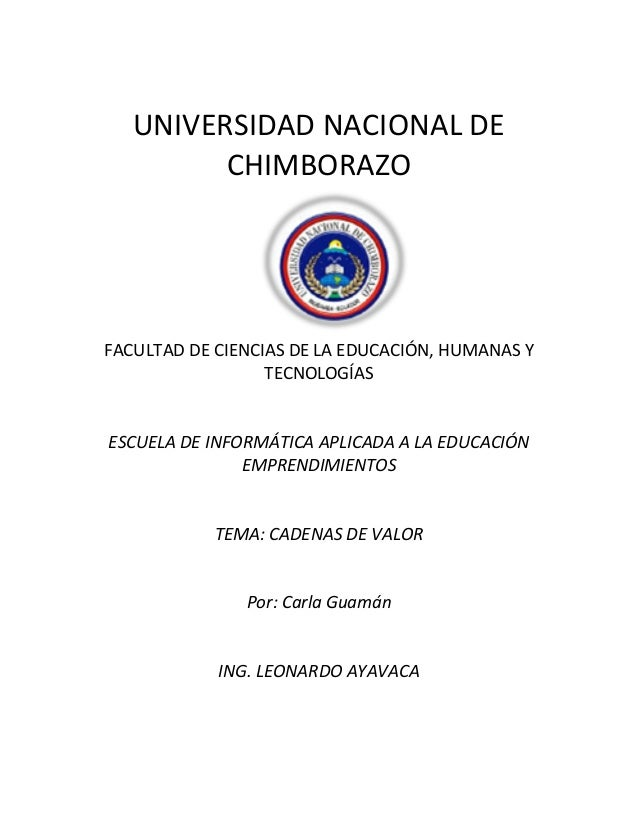 UNIVERSIDAD NACIONAL DE CHIMBORAZO  FACULTAD DE CIENCIAS DE LA EDUCACIÓN, HUMANAS Y TECNOLOGÍAS  ESCUELA DE INFORMÁTICA AP...
