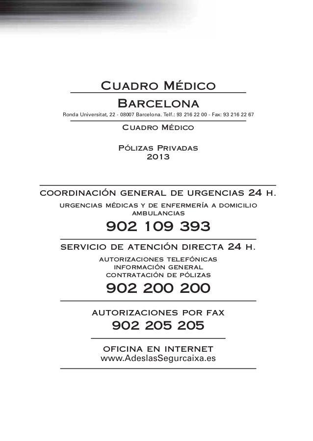 Guia Medica Adeslas Barcelona 2013