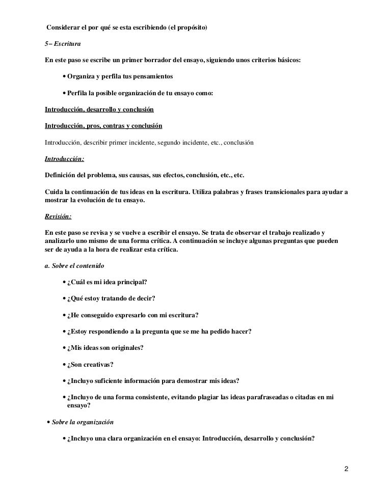 metodológica para escribir un ensayo