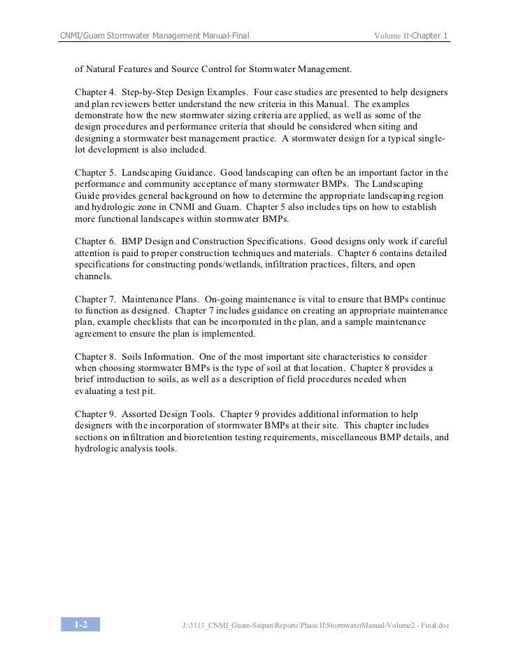 Guam Stormwater Management Manual